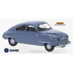 Saab 92 berline 2 portes bleu pigeon (1950)