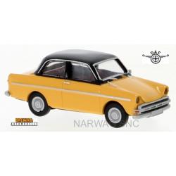 Daf 750 berline 2 portes jaune melon à toit noir (1960)
