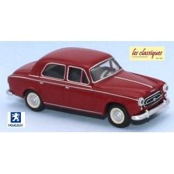 Peugeot 403 berline 8cv rouge rubis (1959)