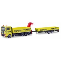 "MAN TGX XL E6c camion 8x4 & grue + remorque transports de matériaux ""Ley Krane Gummersbach"""