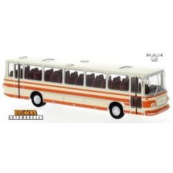 MAN 750 HO autocar beige clair à bandes oranges (1967)