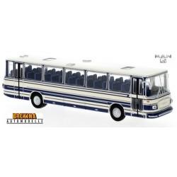 MAN 750 HO autocar blanc à bandes bleues (1967)