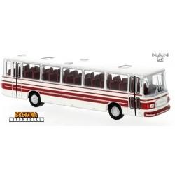 MAN 750 HO autocar blanc à bandes rouges (1967)
