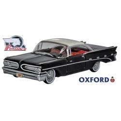 Pontiac Bonneville Coupe, noire à toit blanc (1959)