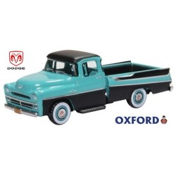 Dodge D-100 Sweptside Pick Up bleu turquoise et noir (1957)