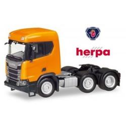 Scania CR XT Tracteur solo 6x2 version chantier orange