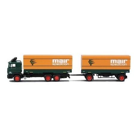 MAN F90 camion + rqe Pte caisses bâchées Mair Spedition