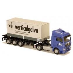 MAN TGX XLX + semi-remorque Porte container 20' Verticalgalva