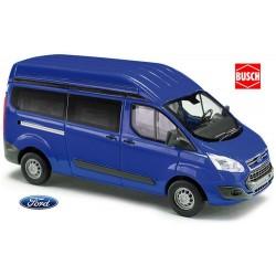 Ford Transit Custom Phase 1 minibus court et surélevé bleu