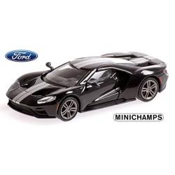 Ford GT 2018 noire avec bandes grises métallisées