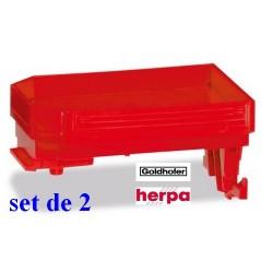 Set de 2 cols de cygne rouge de remorque modulaire Goldhofer THP
