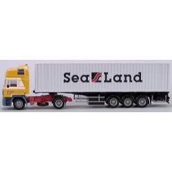 """MAN F2000 Co + semi-remorque Porte container 40' """"Sealand (Winterswijk)"""