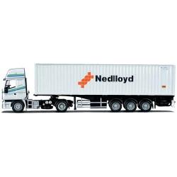 """Iveco Eurostar + semi-remorque Porte container 40' """"Ned Lloyd"""" (Sveistrup - NL)"""