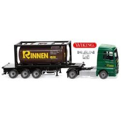 """MAN TGX XXL E6c + semi-remorqua Porte container 20' """"Rinnen"""""""