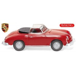 Porsche 356 cabriolet ouvert (1959) rouge signal