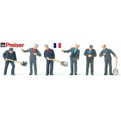 set de 6 cheminots français (conducteurs & chauffeurs)