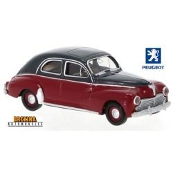Peugeot 203 berline 1953 rouge carmin et gris foncé