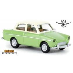 Daf 600 berline 2 portes (1960) vert clair à toit crème