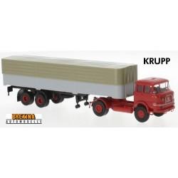 Krupp SF 980 + semi-remorque bâchée (1965) - série éco cabine rouge