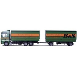 MAN TGA XXL camion + rqe Pte caisses bâchées déposables B&S