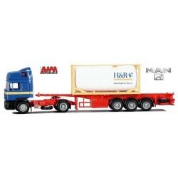 "MAN F2000 Co Evo + semi-rqe Pte container citerne 20' ""H&R"""