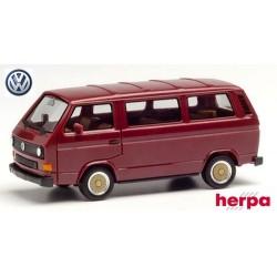VW T3 minibus (1979) rouge vin avec jantes BBS