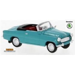 Skoda Felicia cabriolet ouvert (1959) bleu turquoise