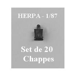 Set de 20 Chapes pour attelage de remorques