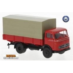 MB LP 328 camion bâché (1960) rouge sans déco  - série eco