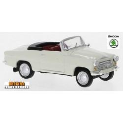 Skoda Felicia cabriolet ouvert (1959) blanc