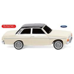 Ford 20M berline 2 portes (1964) blanc perle à toit noir