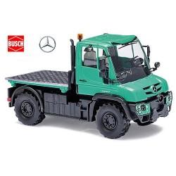 MB Unimog U 430 vert menthe clair à plateau court