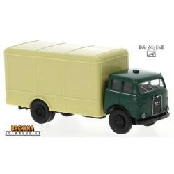MAN 10.212 camion fourgon sans marquage  (1960) vert et beige