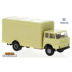 Henschel HS 16 TL camion fourgon neutre (1962) beige