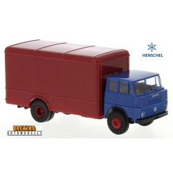 Henschel HS 16 TL camion fourgon neutre (1962) bleu et rouge foncé