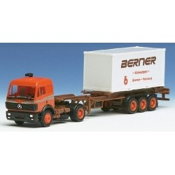 """MB SK 88 + semi-remorque Porte container 20' """"Berner"""" (chariot coulissant)"""