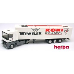 "Renault AE + semi-remorque fourgon ""Weweller Koni Bus & Truck"""