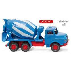 MAN 26.240 DHA camion toupie à béton (1969) bleu et blanc