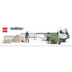 Multicar pick-up avec compresseur, ouvrier et accessoires