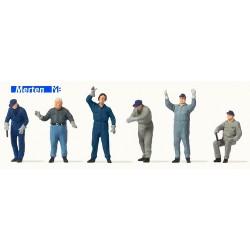 Set de 6 manutentionnaires chargeant des marchandises (Merten)