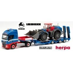"Iveco Stralis + semi-remorque Goldhofer Allrounder  & chargeur Liebherr ""Riwatrans"""