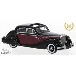 Jaguar Mark V berline 4 portes (1950) rouge bordeaux et noire