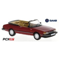 Saab 900 Turbo cabriolet (1986) rouge - Gamme PCX87