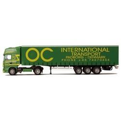 "Scania 4er TL + semi-remorque tautliner ""OC International"" (DK)"