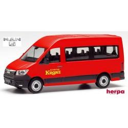 """MAN TGE minibus réhaussé """"Circus Krone"""""""