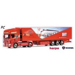 "Scania 144 TL + semi-remorque frigorifique ""Red Indian"" - PC"