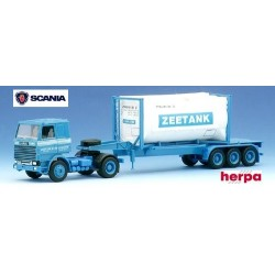 "Scania 112 + semi-remorque Porte container citerne 20' ""Zeetank"""
