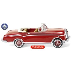 MB 220 S Cabriolet rouge à intérieur brun clair (1958)