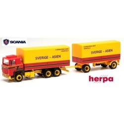 """Scania 141 camion + remorque bâchée """"Stjärnströms Akeri"""""""