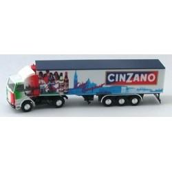 "Scania 142 + semi-remorque frigorifique ""Cinzano"""